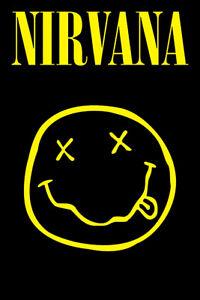 "Nirvana - Music Poster / Print (Smiley / Logo) (Size: 24"" X 36"")"