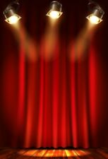Red Curtain Backdrop Prom 5x7ft Photography Studio Prop Vinyl  Stage Background