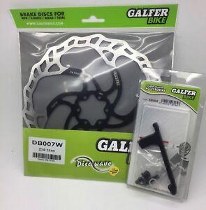 Galfer Disc Brake Rotor & Adaptor 223mm Wave Fits Rear Discs 160-180 SB002
