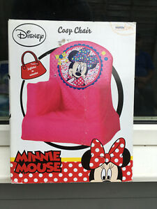 DISNEY MINNIE MOUSE PINK INFLATABLE SOFT COSY CHAIR FOR KIDS **BRAND NEW BOXED**