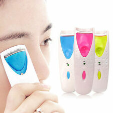 Electric Heated Eyelash Curler Battery Power Beauty Makeup Tool Long Lasting UK