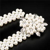 Lady Waist Belt Pearl Rhinestone Diamante Sash Party Dress Bridal Prom Bead Chic