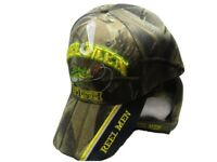 Reel Men Fish Fishing Camouflage Camo Black on Bill Embroidered Cap CAP932 Hat