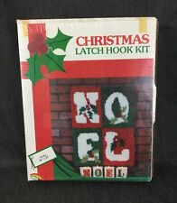 "Noel Latch Hook Kit Vintage Christmas Decor 20"" By 27"""