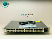 Cisco WS-C3750E-48PD-S • 48 Port PoE Gigabit Ethernet Switch ■SAME DAY SHIPPING■