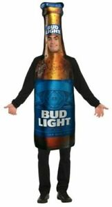 BUD LIGHT Beer Bottle Budweiser Halloween Costume Tunic  Men ADULT OSFM
