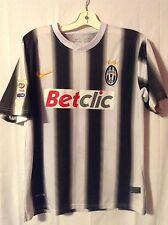 Juventus Black White Stripe Nike Soccer Jersey Kit Betclic Medium Italy Football