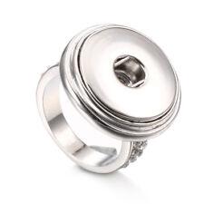 Fashion Crystal Rhinestone Ring Snap Button Fit 18MM Noosa Charm jewelry