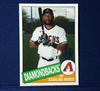 2020 Topps Update 35th 1985 Retro Starling Marte #85TB-6 Arizona Diamondbacks