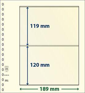 Lindner T-Blanko-Blätter mit zwei Taschen im 10er Pack  Art.-Nr. 802 204