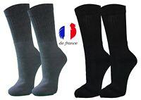 👌 lot 6 à12 paire chaussettes travail sécurité NOIRE homme coton taille 41/46
