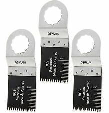 "Oshlun MMS-1003 1-1/3"" Precision Japan HCS Oscillating Blade -FEIN / Festool-3PK"