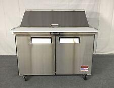 "48"" Sandwich Prep Unit Salad Table Refrigerator Prep Cooler 2 Door Commercial 4"