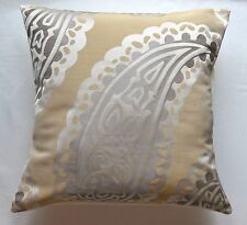 "16"" Laura Ashley 'Emperor Paisley' Gold fabric cushion cover"