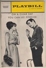 "Louis Jourdan & Barbara Harris ""On a Clear Day""  TRYOUT  Playbill  1965  Boston"