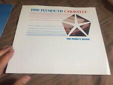 1988 Plymouth Caravelle K Car Color Sales Brochure Prospekt