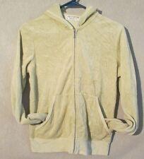 W5153 Juicy Couture Juniors X-Large Green Long Sleeve Zip Up Hoodie