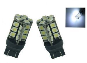 Ampoules T20 LED W21/5W Blanc Veilleuses 7443 pour feu de jour 27 SMD Auto 12V