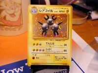 Pokemon Japanese Base Set Rare* Magneton Holo/Foil No. 082 w/ Swirl