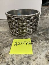 Homeworx By Harry Slatkin Basketweave Pedestal Candle Holder