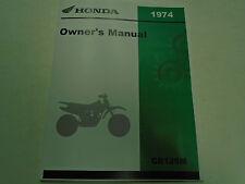 1974 Honda CR125M ELSINORE Owners Operators Owner Manual Brand New 1974