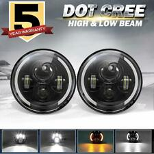 DOT 2 X 7 INCH LED Headlight For Jeep Wrangler JK TJ LJ CJ Kenworth Freightliner