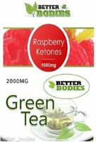 Raspberry Ketone 1000mg Green Tea 2000mg Strong Fast Weight Loss Slimming Diet