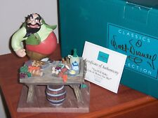 "WDCC Pinnocchio ""YOU WILL MAKE LOTS OF MONEY FOR ME!"" Stromboli & Table. NIB"