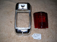 NOS Mopar 1940 Chrysler Tail Light Bezel and Lens Very Rare!