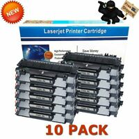 10 Pack CF280A 80A Toner Cartridges For HP LaserJet Pro 400 M401n M401dn M425dn