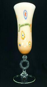 Huge Genuine Opalina Fiorentina Millefiori Art Glass Vase
