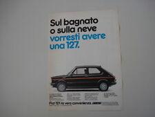 advertising Pubblicità 1981 FIAT 127 SPORT 70 HP