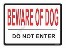 """BEWARE OF DOG... 9"""" x 12 ALUMINUM - NEW IN PACKAGE, dog supplies, signs, funny"""