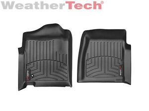 WeatherTech Floor Mat FloorLiner for Silverado/Sierra Regular Cab- 1st Row-Black