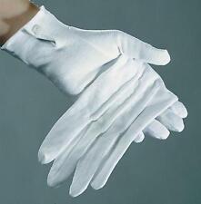 Weiße Handschuhe mit Knopf & Biesen / Garde Gardehandschuhe Chauffeur Pantomime
