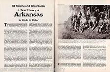 Arkansas History - Onions And Razorbacks+Bates,Bradford,Christie,Conway,De Tonti