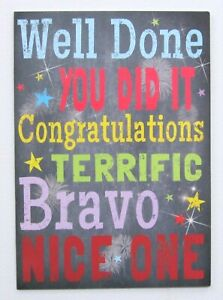 Congratulations/Well Done Greeting Card by Cards For You- Male/Female/Friend