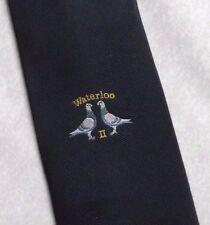 WATERLOO II COMPANY LOGO TIE VINTAGE RETRO 1970s 1980s CLUB ASSOCIATION BIRD
