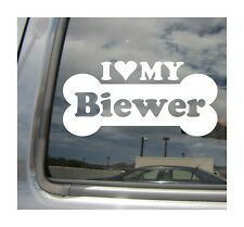 I Heart Love My Biewer - Dog Bone Car Vinyl Decal Sticker 13142