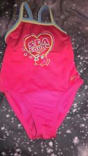 """Girls pink Speedo """"Sea Squad"""" swimming suit 18-24 months size 2"""