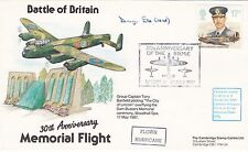30th Anniv of the Battle of Britain Flown Signed  D V Eke Lancaster Navigator Bo