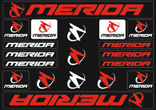 Merida Mountain Bicycle Frame Decals Stickers Graphic Adhesive Set Vinyl Red
