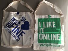 2 x NEW Sportsgirl Casual Tote Material shopping carry Bag FREE POST GR8 EASTER