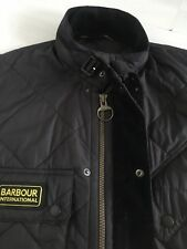 Mens Black Genuine Barbour Coat Jacket Size Medium