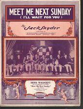 Meet Me Next Sunday 1922 Herb Wiedoeft Sheet Music