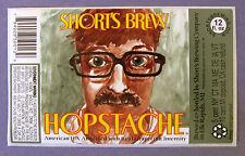 Short's Brew HOPSTACHE - AMERICAN IPA beer label MI 12oz STICKER