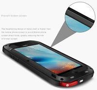 Shock Waterproof Aluminum Metal Case Cover + Gorilla Glass for iPhone 7 7 Plus