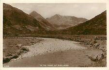 1930s? Real Photo Postcard;The Heart of Glen Shiel, Highlands of Scotland Unused