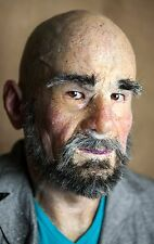 "Silicone Mask Old Man ""Leon"" Hand Made, Halloween High Quality, Realistic,"