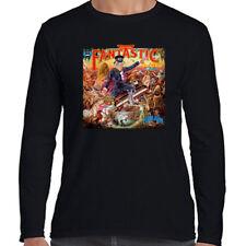 Elton John Captain Fantastic Men's Long Sleeve Black T-Shirt Size S to 3XL